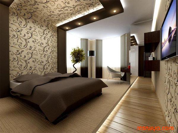 احدث غرف النوم ورق جدران 2014 مجلة لمسة الفنية   ورق جدران