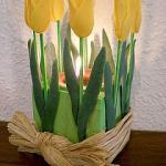 ابداعات السيراميك عمل شمعدان بزهور