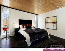 تصاميم لغرف نوم حديثة وعصرية باللون الاحمر والابيض والاسود
