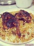 اكله رمضانية الارز الحضرمي بالبهارات مع الدجاج المشوي بالصور