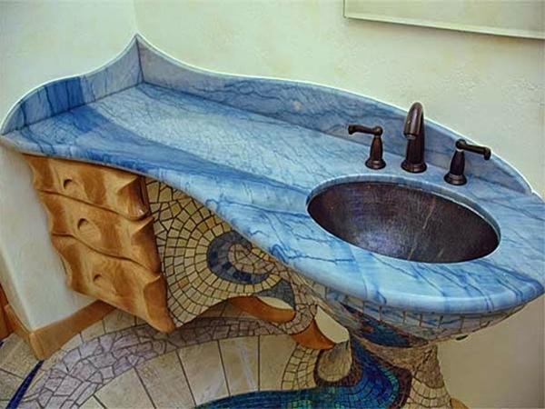 3221 ديكور حمام خيالي باللون الأزرق الأنيق