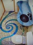 ديكور حمام خيالي باللون الأزرق الأنيق