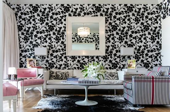 ورق جدران حوائط لغرف الجلوس