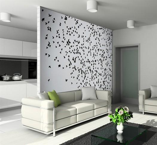 بالصور ورق حائط 2015 لغرف الجلوس مجلة لمسة الفنية   ورق جدران