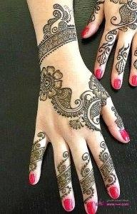 Stylish Colorful Eid Ul Fitr Mehndi Design 2014 for Girls 1 192x300 أكبر مجموعة صور نقش حناء عربي و هندي و باكستاني حديث و متنوع 2016