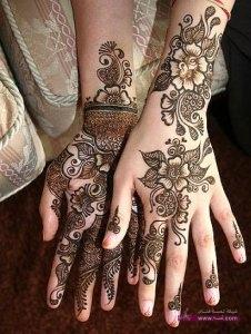Stylish Colorful Eid Ul Fitr Mehndi Design 2014 for Girls 20 1 226x300 أكبر مجموعة صور نقش حناء عربي و هندي و باكستاني حديث و متنوع 2016