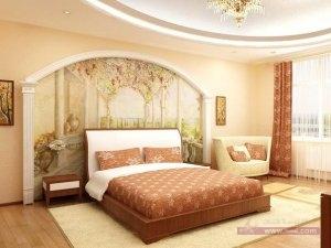 ديكورات غرف نوم للعرسان 4 300x225 أحدث ديكورات غرفه النوم تتسم بالأناقه و التميز في التصميم  و روعة المنظر و جمال الألوان