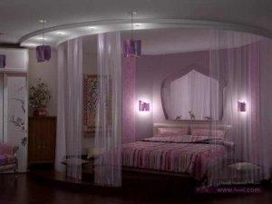 ديكورات غرف نوم للعرسان 5 300x225 أحدث ديكورات غرفه النوم تتسم بالأناقه و التميز في التصميم  و روعة المنظر و جمال الألوان