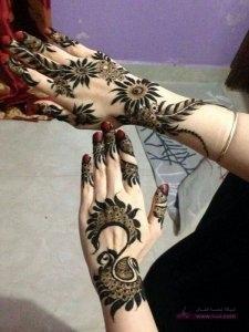 Eid Mahndi Design6 225x300 نقوش حناء هندية للجسم العروس 2015 اجمل نقوش حناء جديدة 2016