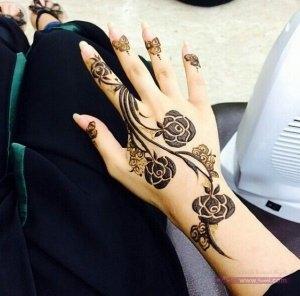 Khaleeji Henna Mehndi Designs 4 300x296 نقوش حناء هندية للجسم العروس 2015 اجمل نقوش حناء جديدة 2016