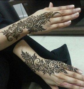 Khaleeji Henna Mehndi Designs1 286x300 نقوش حناء هندية للجسم العروس 2015 اجمل نقوش حناء جديدة 2016