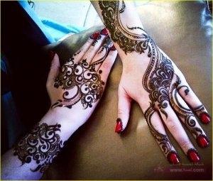 Mehndi Designs 600x509 300x255 نقوش حناء هندية للجسم العروس 2015 اجمل نقوش حناء جديدة 2016