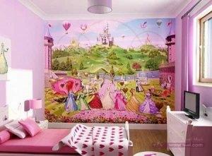 الوان غرف نوم اطفال2016 1 450x332 300x221 غرف نوم اطفال 2016 بديكورات جميلة  بالوان طفولية وبلمسه جذابة