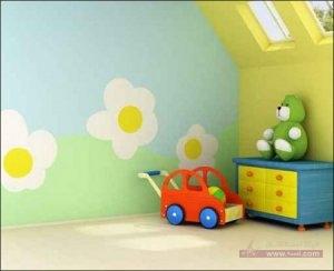 الوان غرف نوم اطفال2016 3 450x366 300x244 غرف نوم اطفال 2016 بديكورات جميلة  بالوان طفولية وبلمسه جذابة