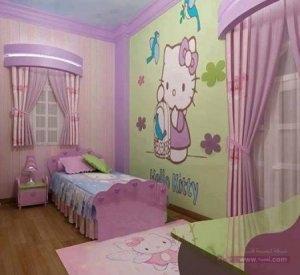 غرف نوم اطفال 2016 بديكورات جميلة 1 450x412 300x275 غرف نوم اطفال 2016 بديكورات جميلة  بالوان طفولية وبلمسه جذابة