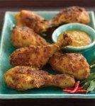 أفخاذ الدجاج بصلصة جوز الهند