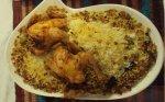 دجاج مع الأرز و الزبيب