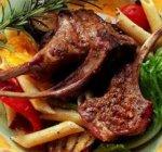 ريًش لحم الضأن المشوية