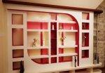 ديكور الجدران الداخلية الجبس التصاميم الحديثة والزخارف مع الأضواء