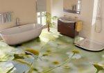 تقنيةوديكورأرضيات حمامات سيراميك 3d