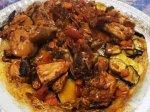 مقلوبة الدجاج بالخضار   اطباق رمضانيه