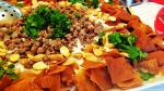 ديك رومى مشوى مع فتة المقدوس وفطائر الجبن الشهية وعصير العنب المنعش ولقمة القاضى