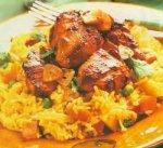 ارز المحمر مع الدجاج