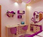 غرفه نوم بناتي بالون الموف والوردي