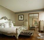 غرف نوم بديكور ومفارش جلد النمر