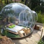 خيمة على هيئة فقاعة تجعلكـ تمارس يومكـ براحة تامة والاستمتاع بالمناظر من حولك