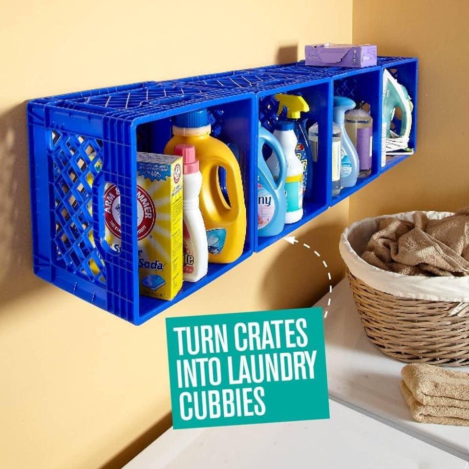 45173234 1873797859405021 5665567162031407104 n افكار اليوم لاعادة استخدام صناديق البلاستيك والخشب في المنزل