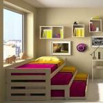 السرير المسحوب تصميم عملي جدًا لـ توفير المساحة في الاماكن الضيقة