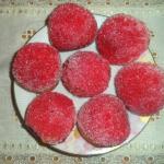 حلوى الكريم كراميل والفراولة