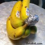 عايزة الموز يقعد اطول فترة ممكنة من غير ما يسود او يعجن
