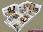 مخططات شقق كبيرة مكونة من اربع غرف نوم تنفع لتقسيم الفنادق او الاسر الكبيرة
