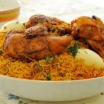 أرز بالبهارات مع الدجاج