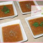 شوربة الطماطم او البندورة من الشوربات الخفيفه وسهلة وسريعة التحضير
