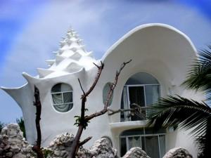 منزل عجيب على شكل صدفة