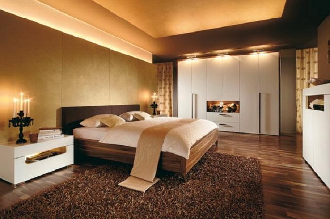 غرف النوم حلوة مرة سجادة باللون البني 2014 مجلة لمسة الفنية   أثاث