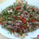 طريقة عمل سلطة لحم رأس الخاروف