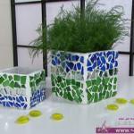 طريقة عمل حوض لنباتات الزينة من الزجاج المكسور