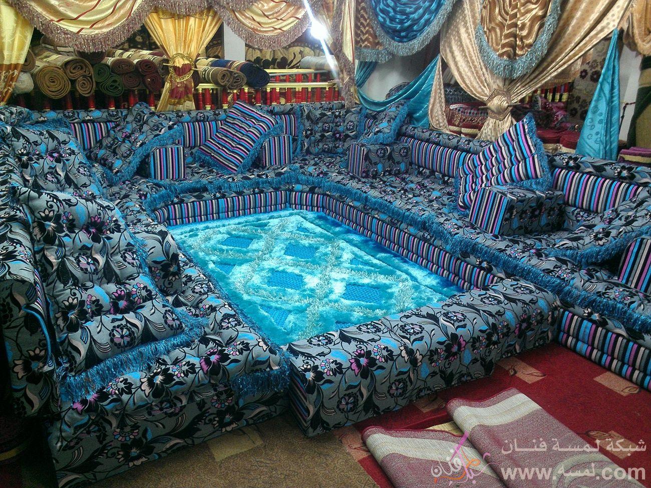 مجالس عربية بتصاميم وألوان رائعة من الراجحي للمفروشات صنعاء اليمن
