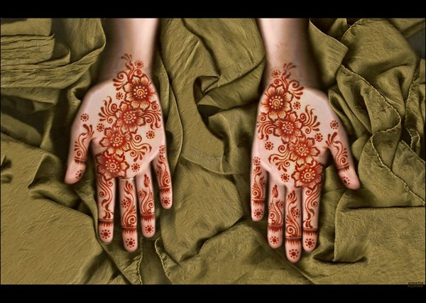 Latest Mehndi Designs 2013 By Amelia 0011 نقوش حناء عرايس خليجية 2014   نقوش حناء ناعمه