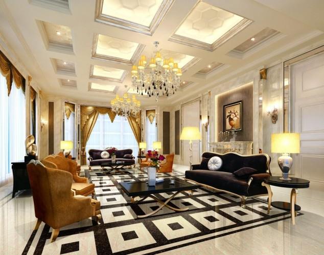 Living-room-ceiling-and-floor-interior-design-European-style-634x498