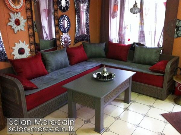 Salon marocain moderne grisgrenat 20144 جبس غرف مجالس رجالية رائعه 2014