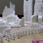 تصميم مدن خيالية مصنوعة من مكعبات السكر مذهله