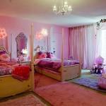 تزيين الحائط مهم جداً في ديكور غرف نوم اطفال بنات
