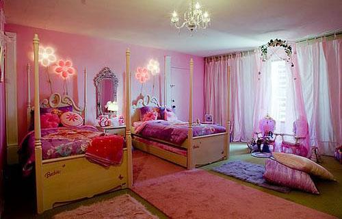 تزيين الحائط مهم جداً في ديكور غرف نوم اطفال بنات مجلة لمسة الفنية