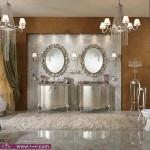 حمامات 2014اطقم حمامات خياليه حمام ذهبي مع فضي حمامات قصورتصميم حمام الواسع