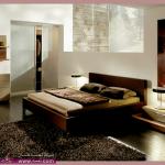 غرف نوم باللون الخشبى 2014  ديكورات غرف مودرن غرف نوم ستايل